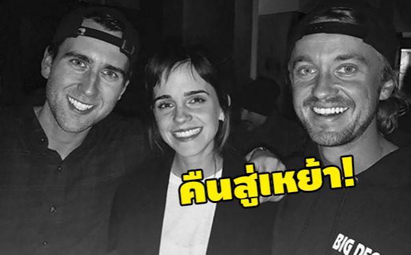 Emma Watson Matthew Lewis Tom Felton ทอม เฟลตัน เอ็มม่า วัตสัน แมทธิว ลูอิส