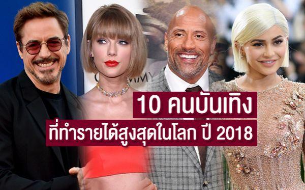 Bruno Mars Coldplay Dwayne Johnson Ed Sheeran George Clooney Katy Perry Kylie Jenner Robert Downey Jr. Taylor Swift U2